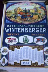 Farming Poster..  1928 Wintenburger Calendar-Poster. #