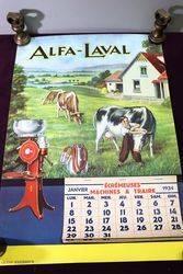 Farming Poster.. 1934 ALFA-LAVAL Calendar-Poster #