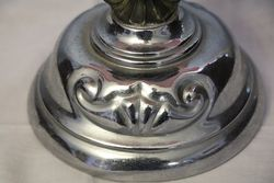 Victorian Glass and Silver Plate Comport