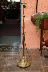 Genuine Early C20th Brass Standard Lamp  #