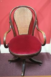 Rare Early C20th Bentwood Office Chair #