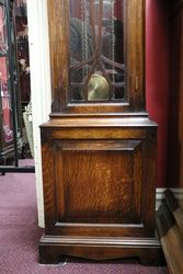 C20th Oak Longcase Clock 8 Day Movement 14 hr Westminster Chime