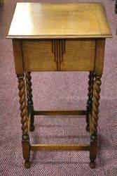 Art Deco Oak Sewing Box #