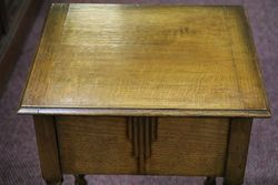 Art Deco Oak Sewing Box