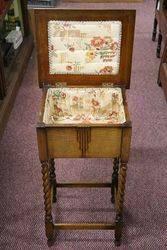 Art Deco Oak Sewing Box
