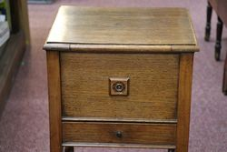Early 20th Century Oak Sewing Box