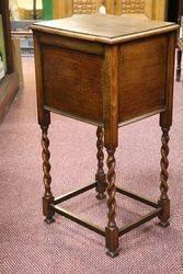 Early 20th Century Oak Sewing Box