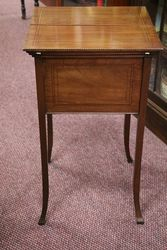 Mahogany Inlaid Sewing Box C1900-10 #