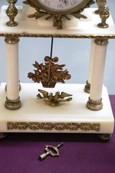 C19th French Marble + Gilt 3 Piece Clock Set