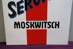 Moskwitsch Service Enamel Advertising Sign