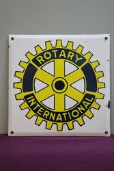 Rotary International Enamel Advertising Sign  #