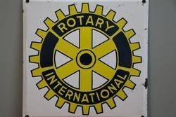 Rotary International Enamel Advertising Sign