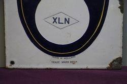 XLN Enamel Advertising Sign