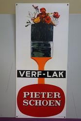 Verf-Lak Paint Brush Plastic Advertising Sign #