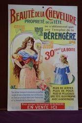 Beaute De La Chevelure Cardboard Advertising Sign