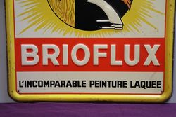 Brioline French Painting Tin Advertising Sign