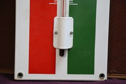 Castrol Enamel Advertising Thermometer