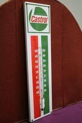 Castrol Enamel Advertising Thermometer