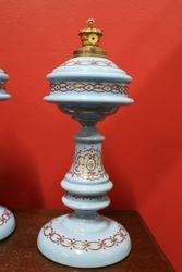 Pair of Antique Glass Lamp