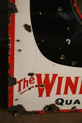 Keystone Burgundy Wine Enamel Advertising Sign