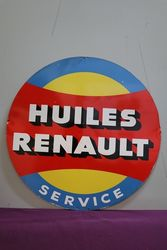 Huiles Renault Tin Advertising Sign #