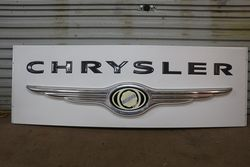 Chrysler Cars Large Advertising Lightbox Lens. #