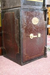 Antique J Cartwright Metal Safe