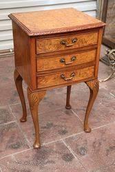 Burr Walnut 3 Drawer Cabinet C1950