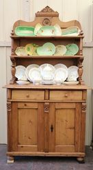 C19th Hungarian Pine Kitchen Dresser.#