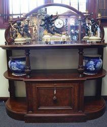 Victorian Mirror Back Dumbwaiter. #
