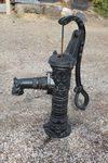 Cast Iron  French Style D Handle Village Pump