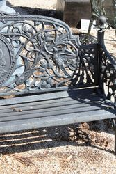 Cast Iron Cameo Bench