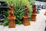 Cast Iron Set Of 4 Musical Cherubs