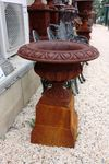 Cast Iron Sonte Prima Urn and Base.