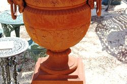 Cast Iron Carmen Urn And Dorchester Base