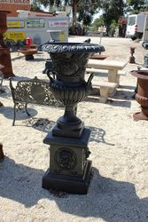 Cast Iron Toulon Urn And Base