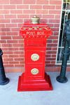 Cast Iron Top  of the Range Post----Letter Box