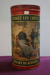 Large Vintage  A.V.L Coffee Tin