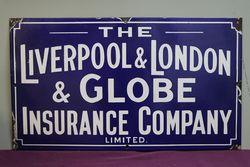 Liverpool & London Advertising Enamel Sign #