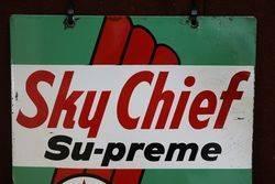 Texaco Sky Chief Advertising Double Sign