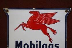 Mobilgas Special Enamel Advertising Sign