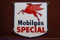 Mobilgas Special Pegasus Enamel Advertising Sign #