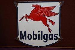Mobilgas Pegasus Enamel Advertising Sign #