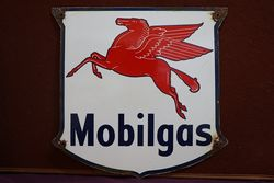 Mobilgas Pegasus Enamel Advertising Sign #