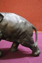 Wonderful Quality Japanese Bronze + Ivory Elephant
