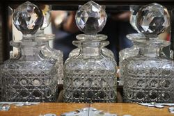 A Fine Quality Victorian 3 Bottle Cut Glass Tantalus