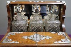 A Fine Quality Victorian 3 Bottle Cut Glass Tantalus