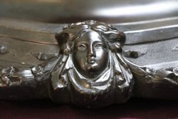 C19th Desk Companion Featuring a Spelter Figure of a scribe