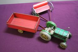 3 Piece of Tin Plate Tractor Set  #