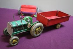 3 Piece of Tin Plate Tractor Set